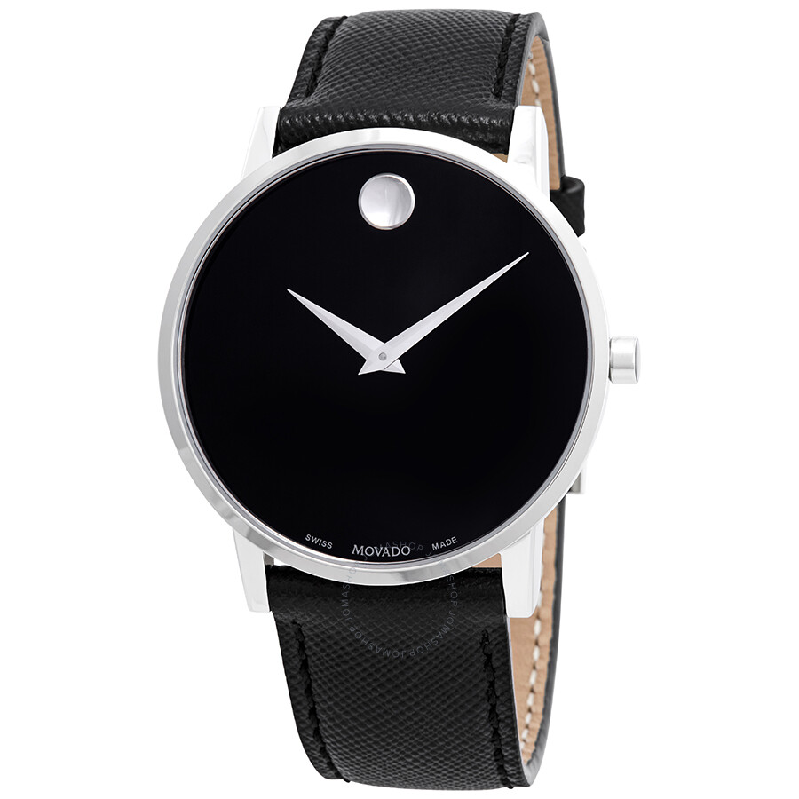 8abf7f50c Movado Museum Classic Black Dial Black Leather Men's Watch 0607194 ...
