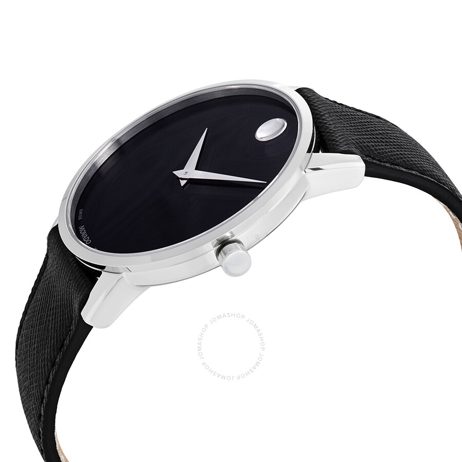 293e1c7f2 ... Movado Museum Classic Black Dial Black Leather Men's Watch 0607194 ...