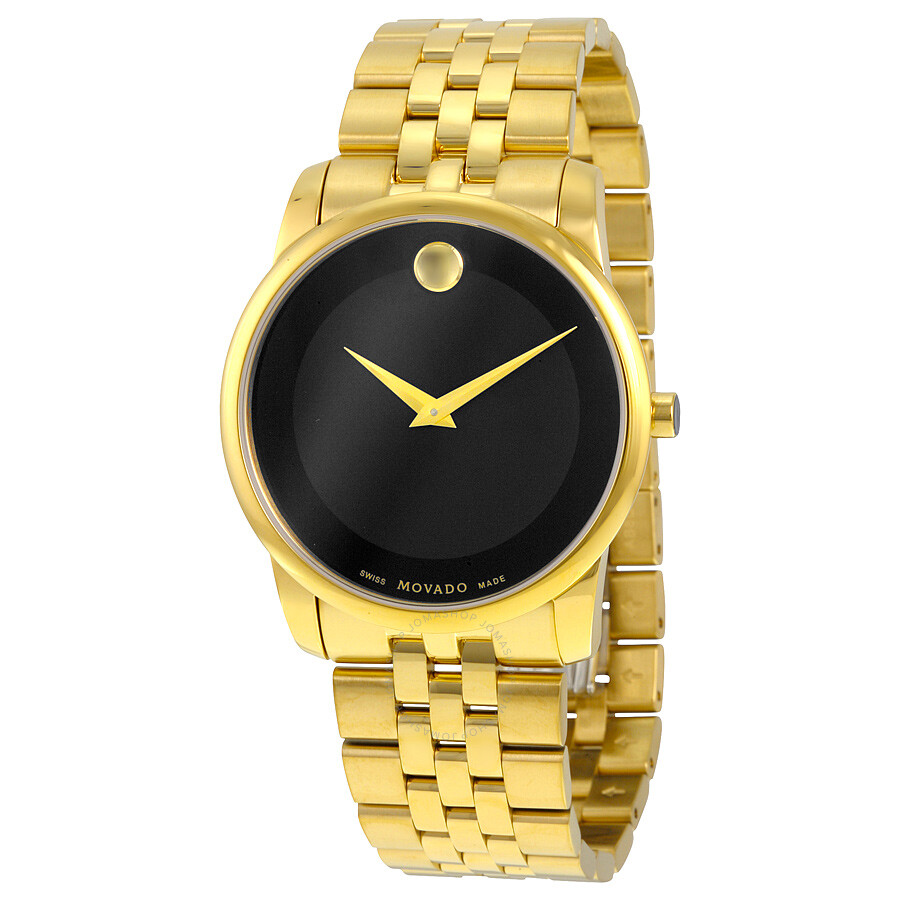 movado museum classic black dial stainless steel yellow pvd men s movado museum classic black dial stainless steel yellow pvd men s watch 0606997
