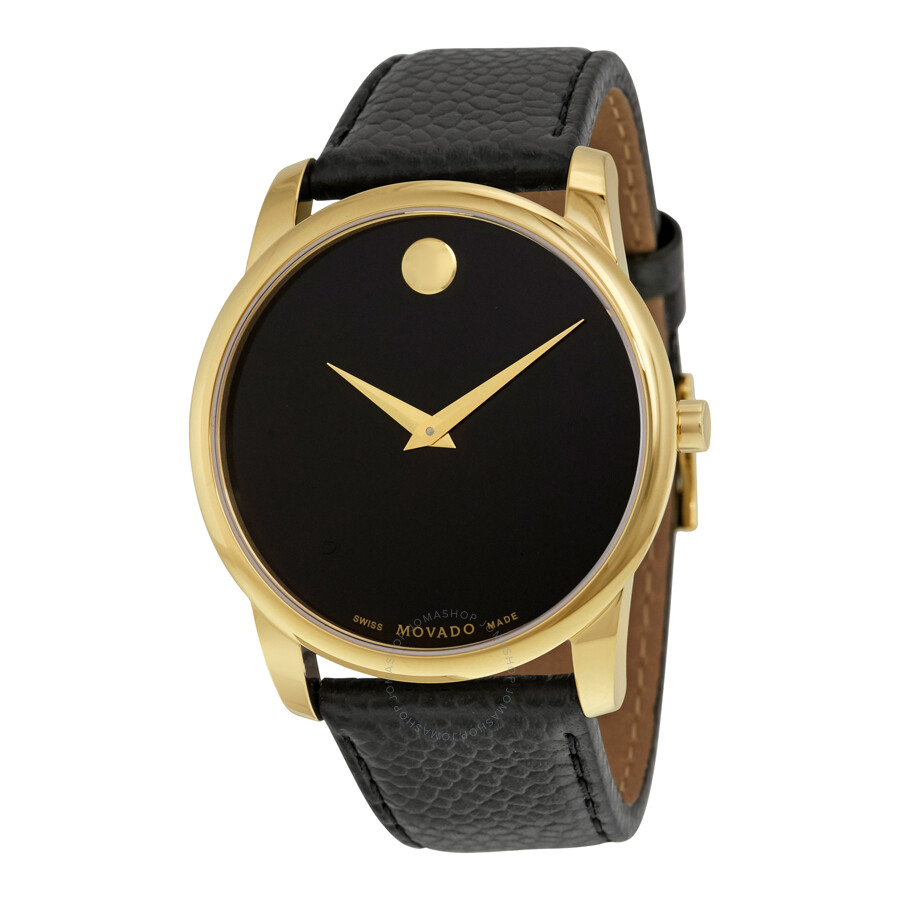 movado museum classic black dial yellow gold pvd men s watch movado museum classic black dial yellow gold pvd men s watch 0607014