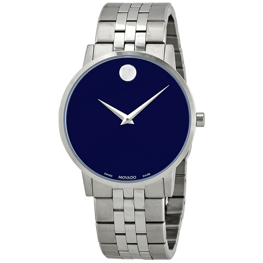 Movado Museum Classic Blue Dial Stainless Steel Men S Watch 0607212