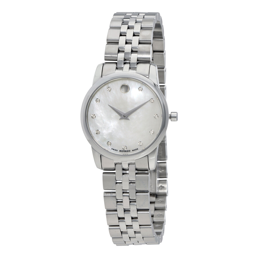 6d03ccc5c68 Movado Museum Mother of Pearl Diamond Dial Ladies Watch 0606612 ...