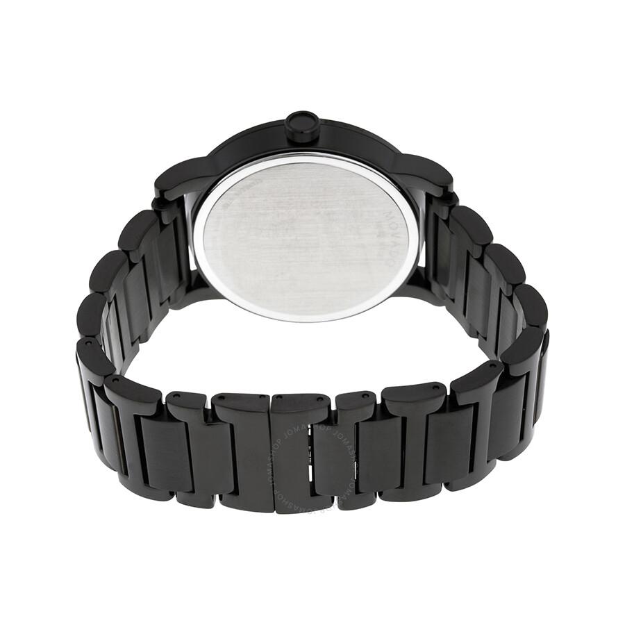 9d7baaf81 ... Movado Museum Sport Black Dial Black PVD Men's Watch 0606615 ...