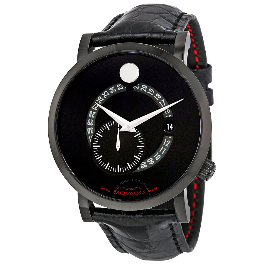 movado red label automatic animated date small seconds black dial movado red label automatic animated date small seconds black dial men s watch 0606485