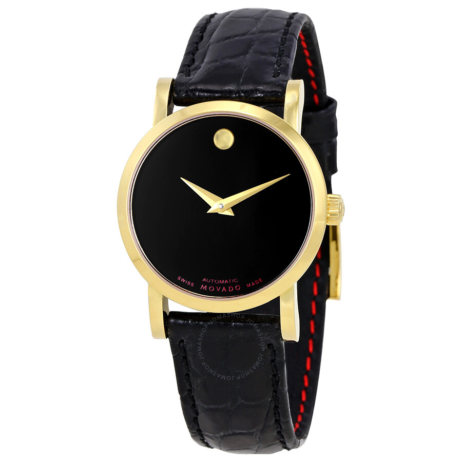 6076352d4 Movado Red Label Black Dial Automatic Ladies Watch 0607010 - Red ...