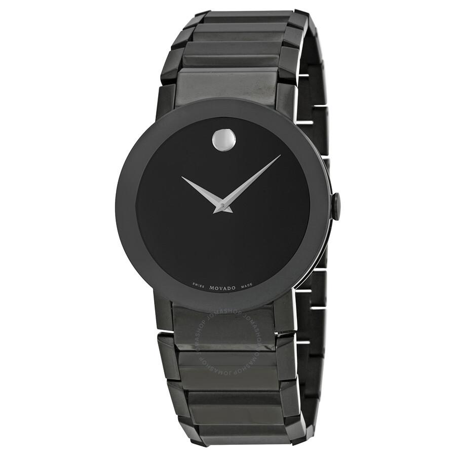 movado sapphire pvd black bracelet men s watch 0606307 safiro movado sapphire pvd black bracelet men s watch 0606307
