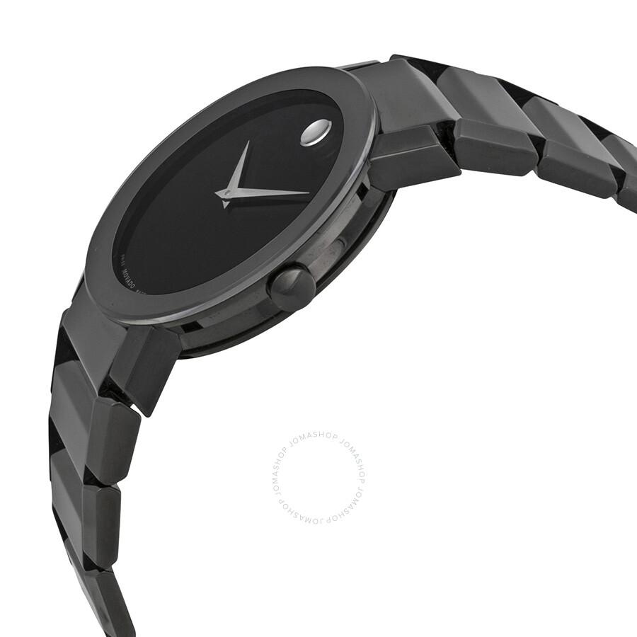 Movado Sapphire Pvd Black Bracelet Men's Watch 0606307