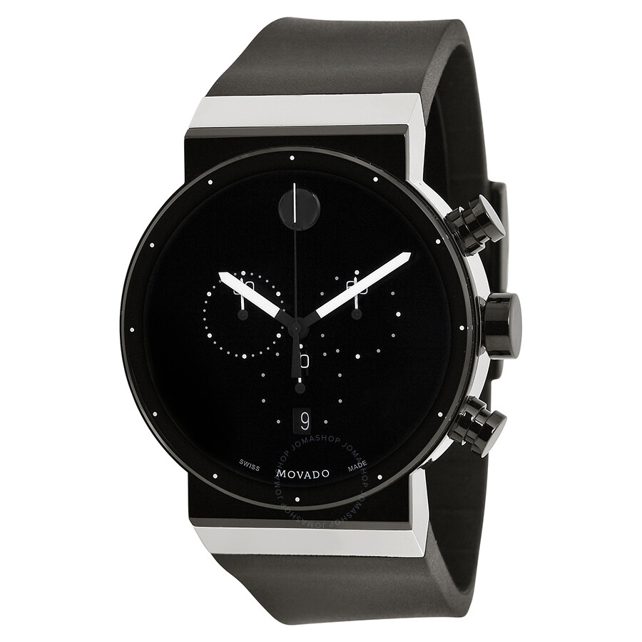 Movado sapphire synergy black dial chronograph men 39 s watch 0606501 safiro movado watches for Watches for men