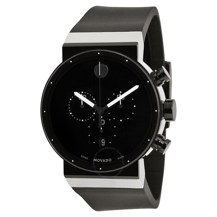 Movado Sapphire Synergy Black Dial Chronograph Men s Watch 0606501 ... d65bab9eb