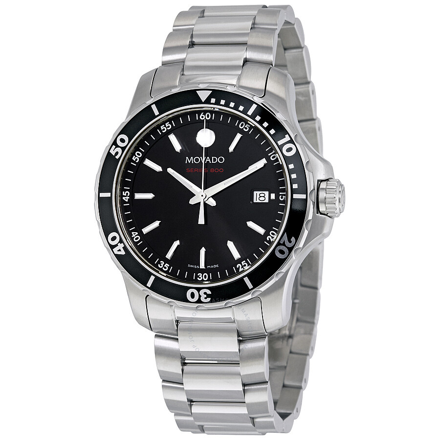 movado watches jomashop movado series 800 black dial stainless steel men s watch