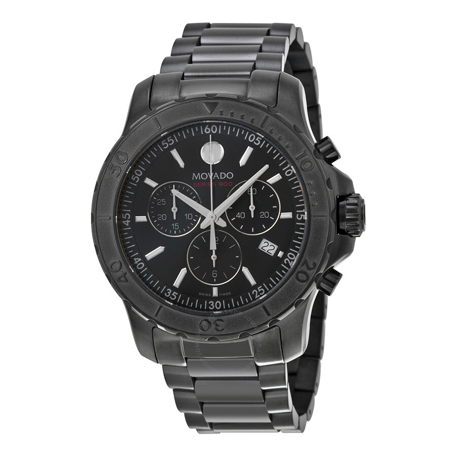 movado watches jomashop movado series 800 chronograph black pvd stainless steel men s watch