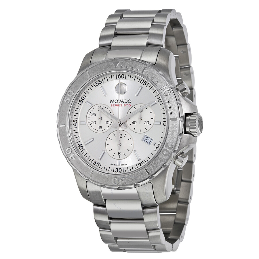 dc0db9173e838 Movado Series 800 Chronograph Silver Dial Stainless Steel Men s Watch  2600111 ...