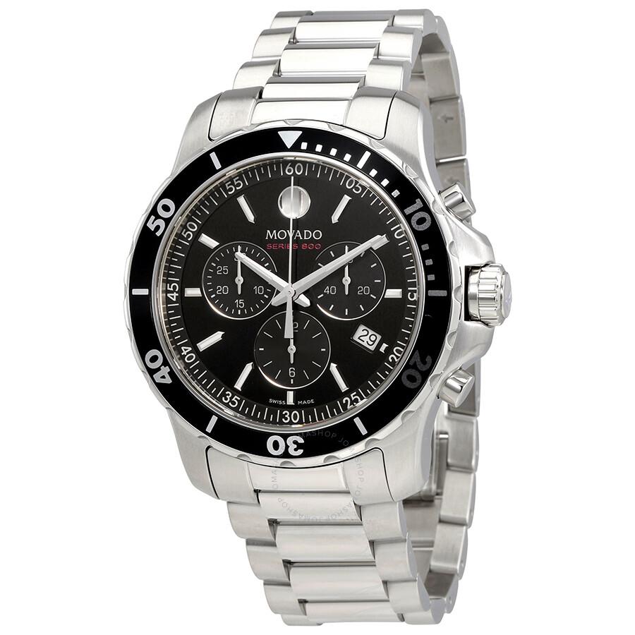 Movado Series 800 Chronograph Black Dial Men s Watch f277bba883ce