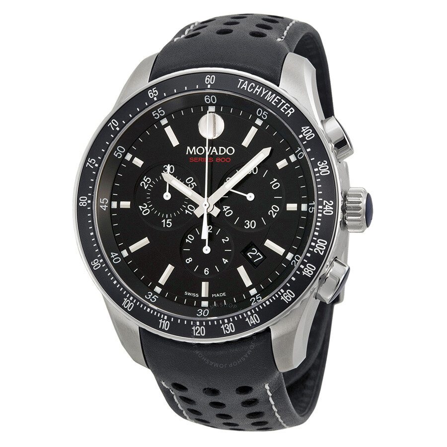 Movado Series 800 Quartz Chronograph Black Dial Men's Watch 2600096 - 800 - Movado - Watches ...