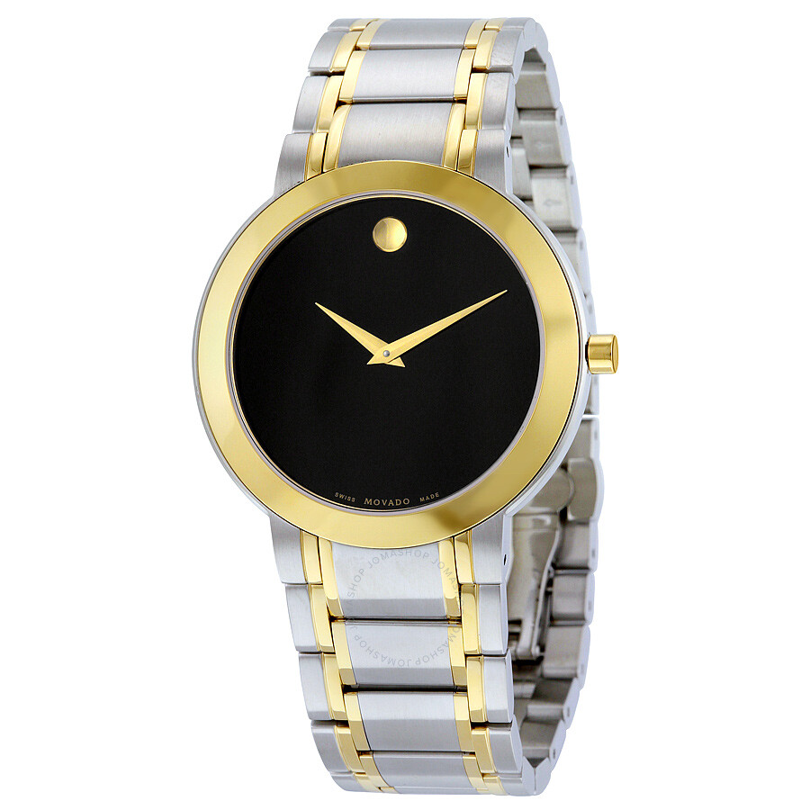 54cc01a401d Movado Stiri Black Dial Two-tone Men s Watch 606950 - Stiri - Movado ...