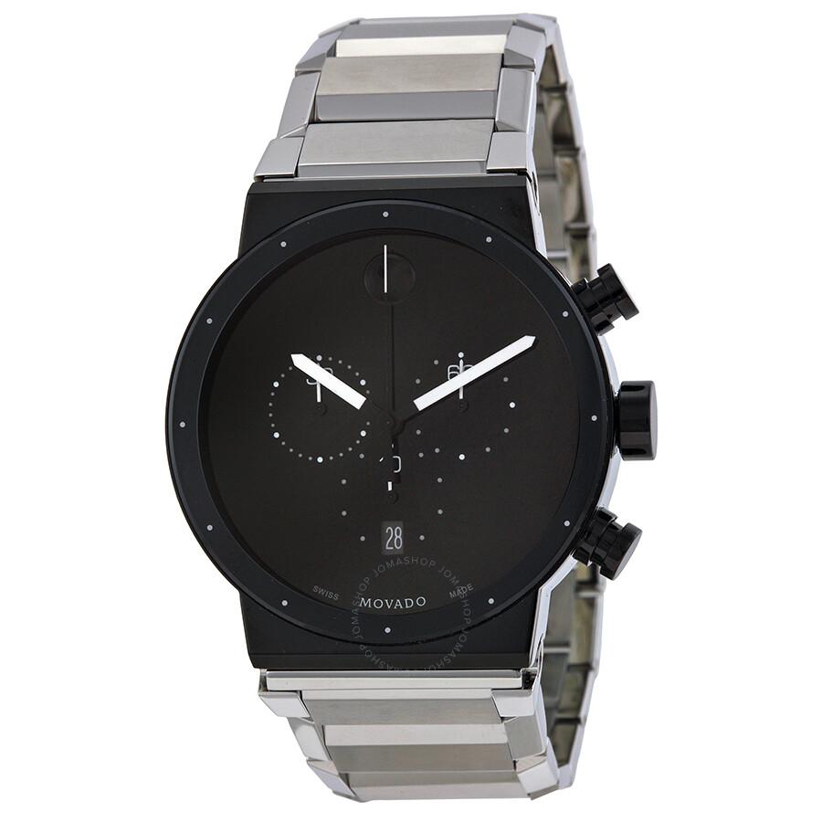 Movado Synergy Chronograph Black Dial Men s Watch 0606800 - 800 ... bbec5269b