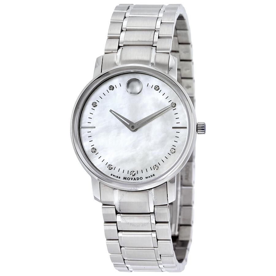 Movado tc diamond mother of pearl dial ladies watch 0606691 tc movado watches jomashop for Mother of pearl dial watch