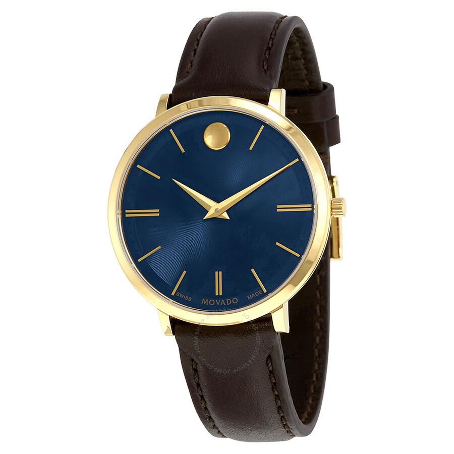 7a863ab5dec Movado Ultra Slim Blue Sunray Dial Ladies Watch 0607092 - Ultra Slim ...