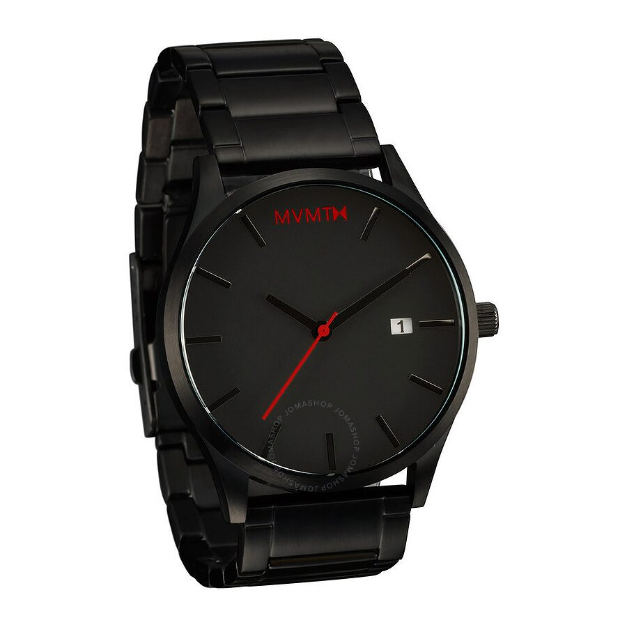 Mvmt classic black dial men 39 s stainless steel watch l213 mvmt watches jomashop for Mvmt watches