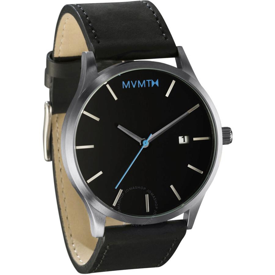 Mvmt classic black dial men 39 s watch mm01 bsl mvmt watches jomashop for Wacthes mvmt
