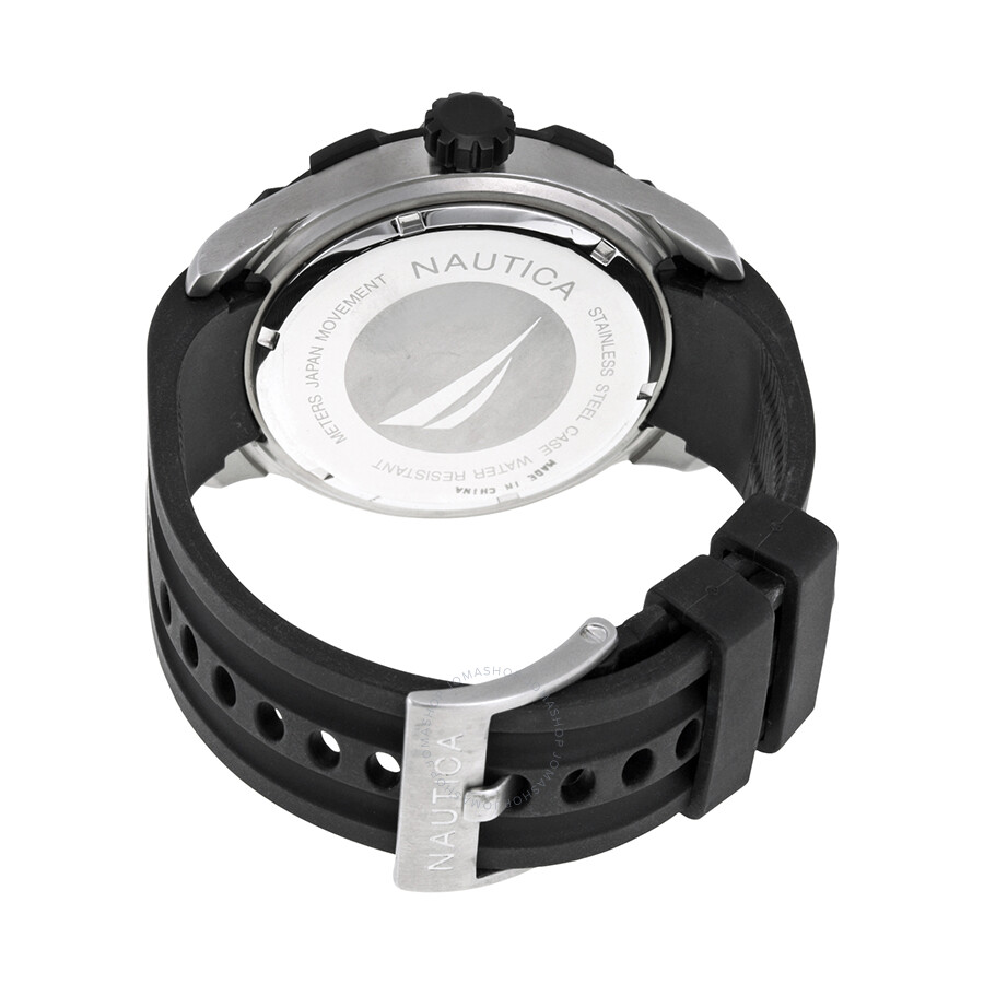 nautica bfd 100 multi function luminous dial black silicone men s nautica bfd 100 multi function luminous dial black silicone men s watch a16509g