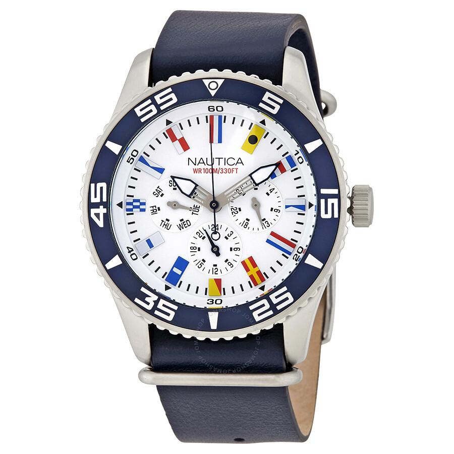 4c840e2ce58 Nautica multi function white dial men watch nad jpg 900x900 Man old nautica  watch