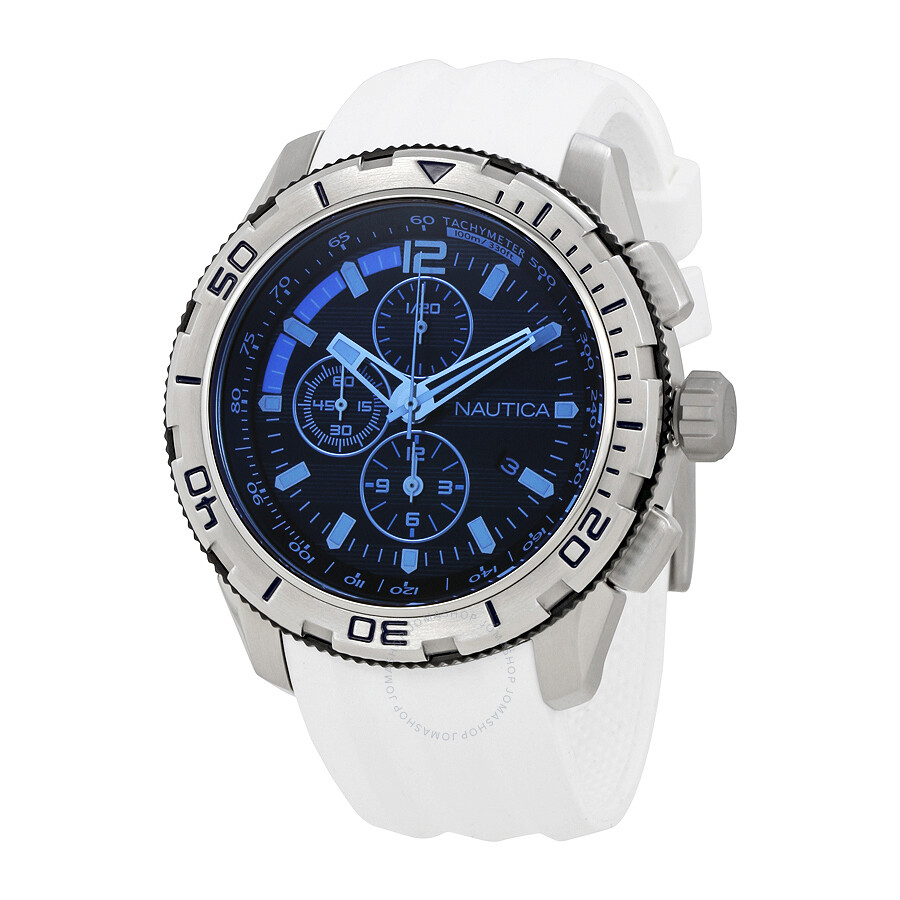 7fa1f8d2d19 Nautica NST 101 Chronograph Dark Blue Dial Men s Watch NAI19521G ...
