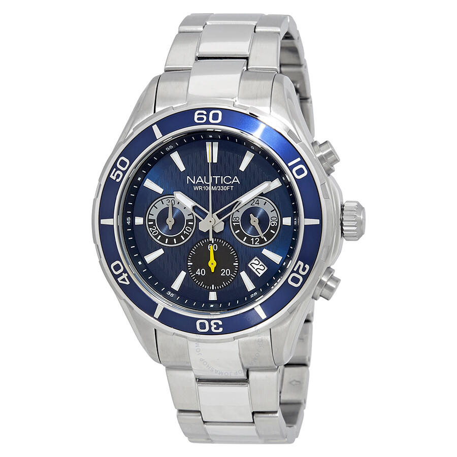 25109582eb2 Nautica NST 12 Blue Dial Men s Chronograph Watch NAD18524G - Nautica ...
