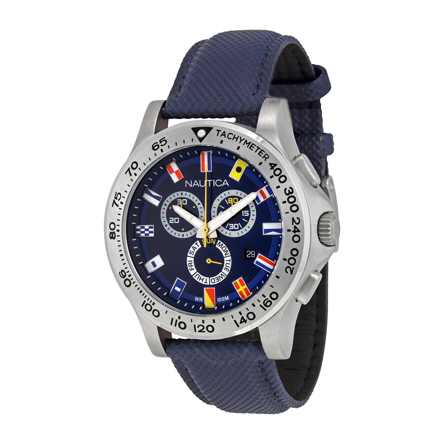9fa0a6cd8ef Nautica NST 600 Navy Blue Dial Chronograph Men s Watch N19597G ...