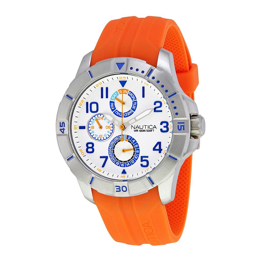 nautica silver dial men s multifunction watch nai12507g nautica nautica silver dial men s multifunction watch nai12507g