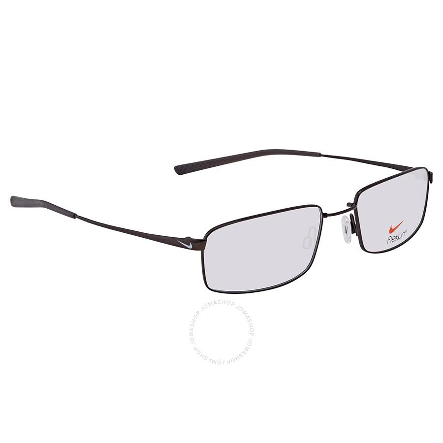 0f5830a6e805 Nike Black Chrome Rectangular Men's Eyeglasses 4193-1-55 - Nike ...