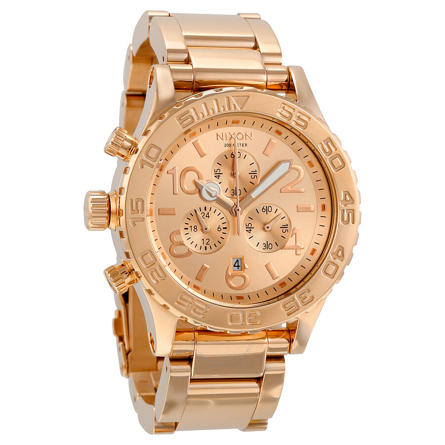nixon 42 20 chronograph rose gold plated men s watch a037897 42 nixon 42 20 chronograph rose gold plated men s watch a037897