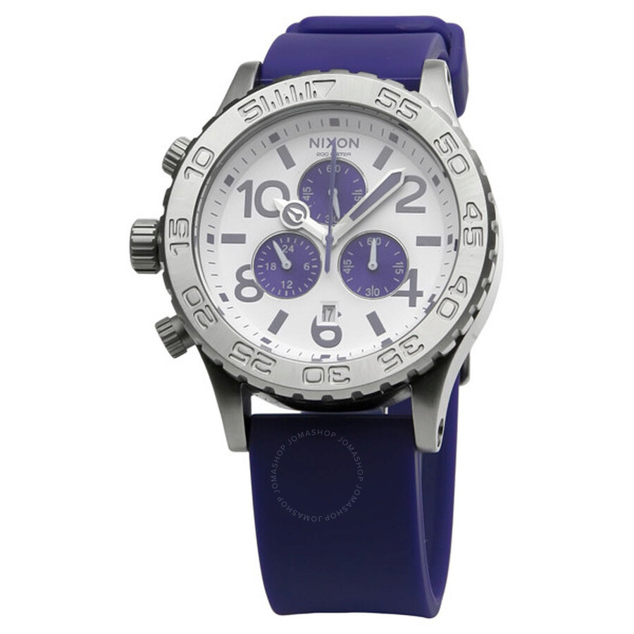 Watch Links Nixon Purple: Nixon 42-20 PU Chrono Purple Watch A038230