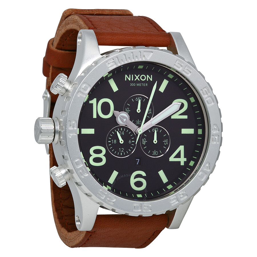 nixon 51 30 chronograph brown leather s a1241037