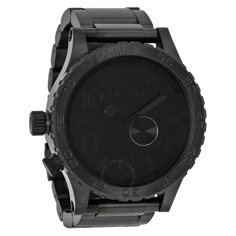 nixon 51 30 tide subdial all black s a057001