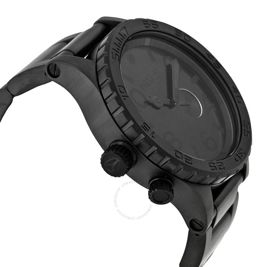 nixon 51 30 tide subdial all black men s watch a057001 51 30 nixon 51 30 tide subdial all black men s watch a057001