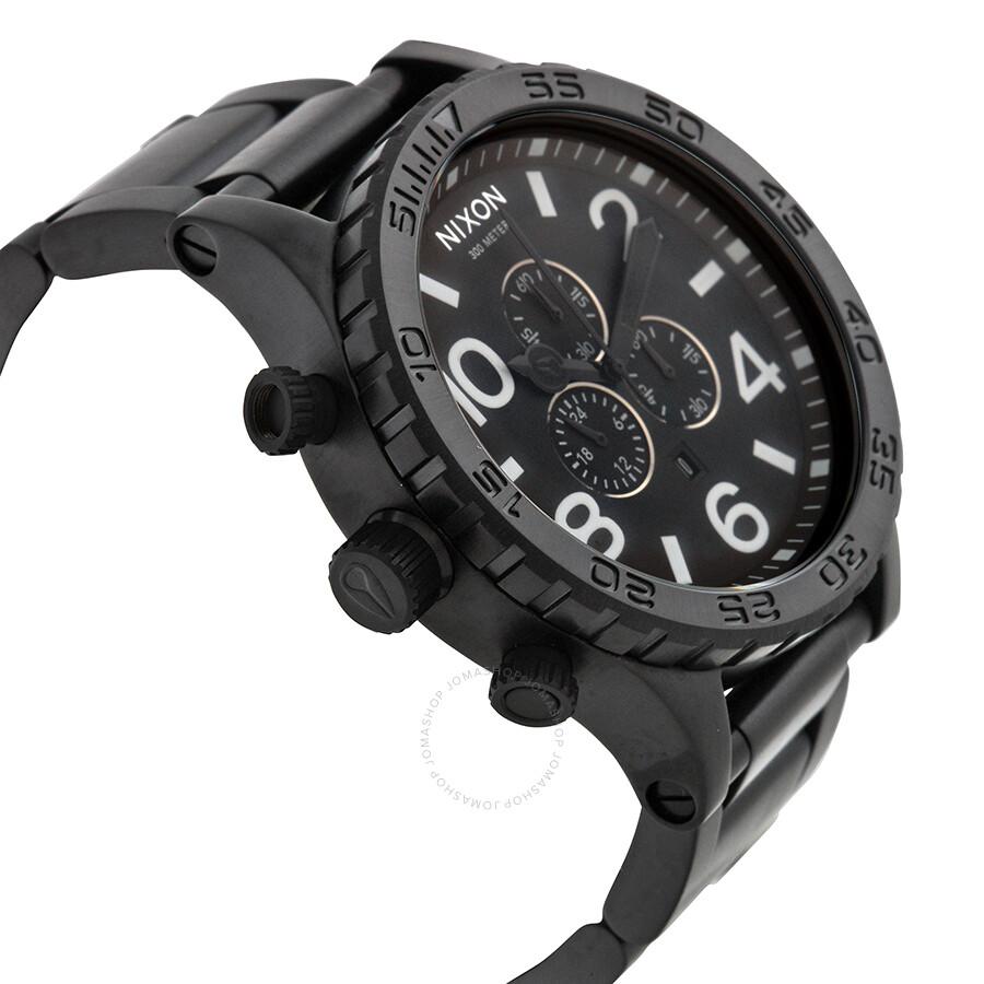 nixon 51 30 chrono all black s a083 001 00 51