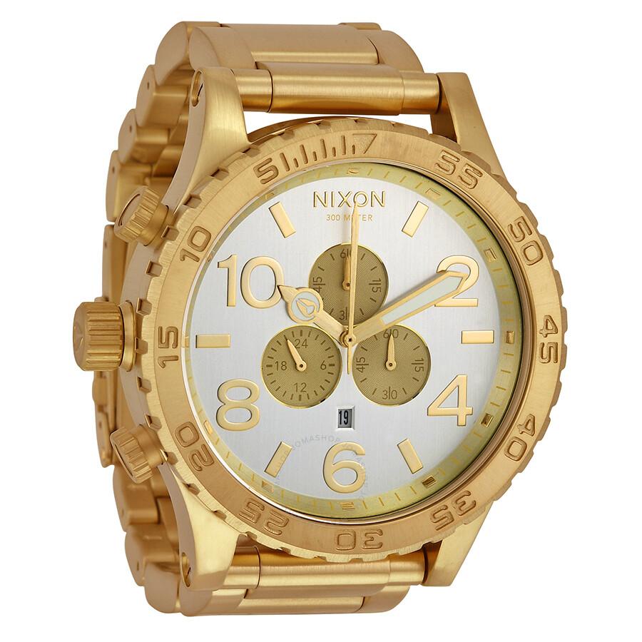 nixon 51 30 chronograph chagne gold tone s
