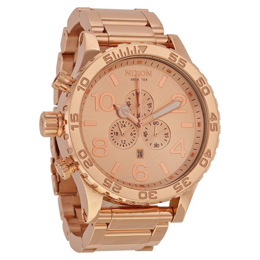 nixon 51 30 chronograph rose gold tone stainless steel men s watch nixon 51 30 chronograph rose gold tone stainless steel men s watch a083897