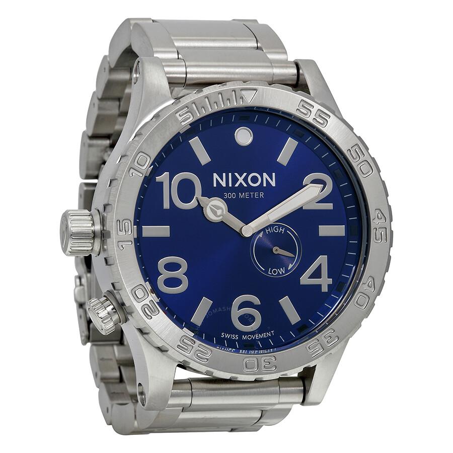 nixon watches jomashop nixon 51 30 tide blue dial stainless steel men s watch