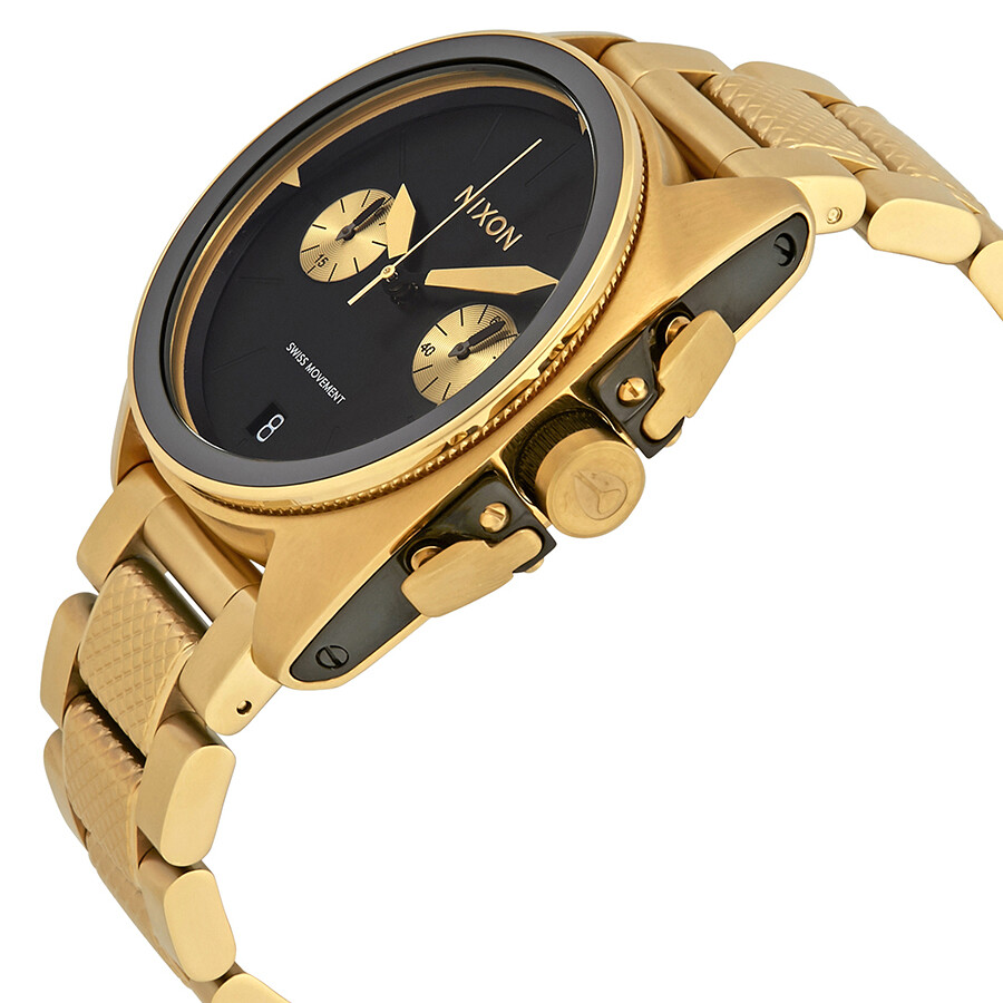 Tone Nixon Black Dial Men's Chronograph 513 Watch Gold A930 00 Anthem hsdCQtxr