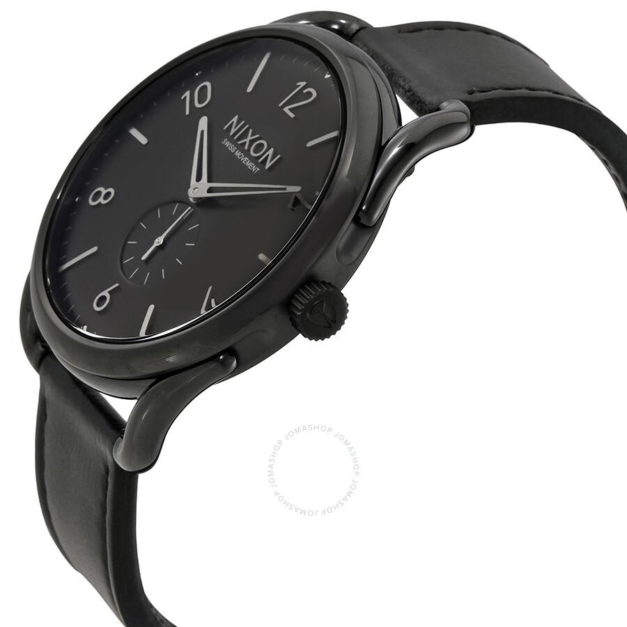 2a91db68f0c Nixon C45 Black Leather Men s Watch A465000 - Nixon - Watches - Jomashop