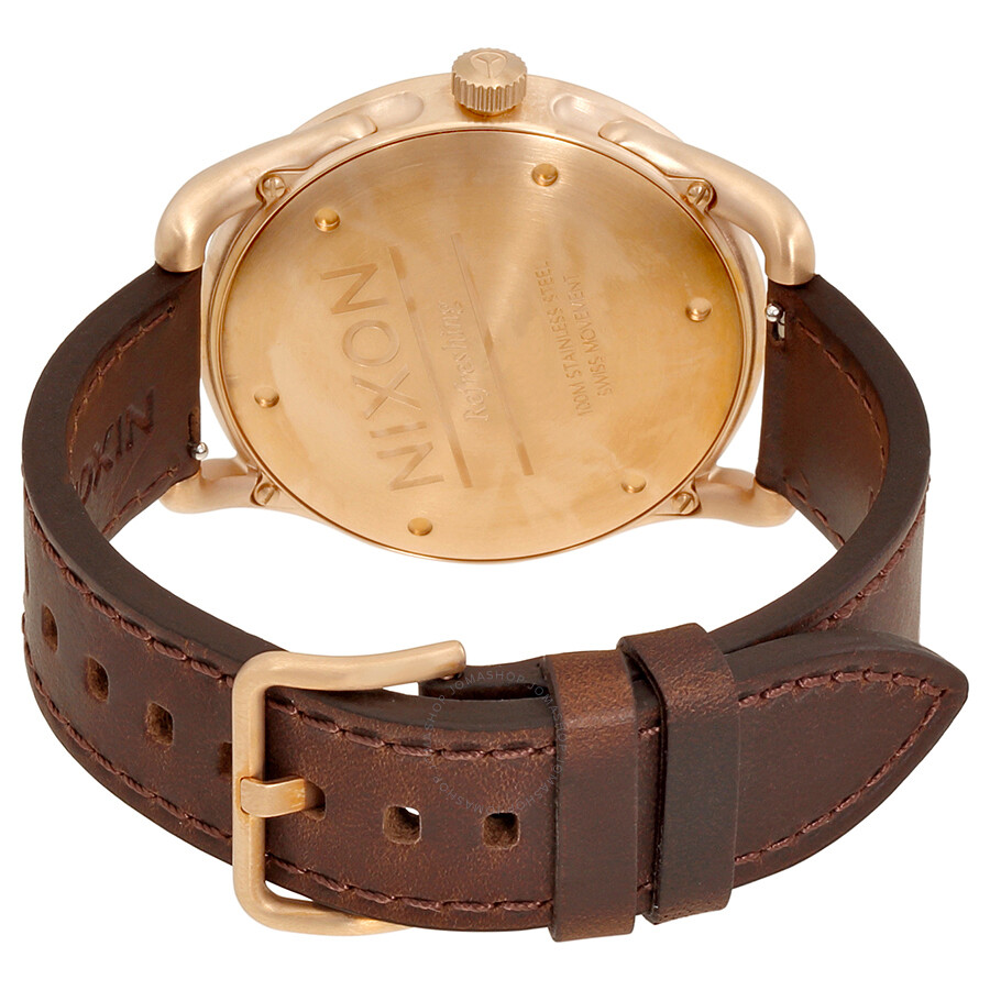 e031ff52f7d Nixon C45 Brown Leather Rose Gold-Tone Men s Watch A4651890 - Nixon ...