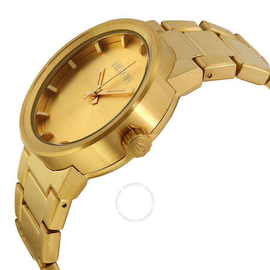 Nixon Cannon Gold: Nixon Cannon All Gold-tone Stainless Steel Men's Watch