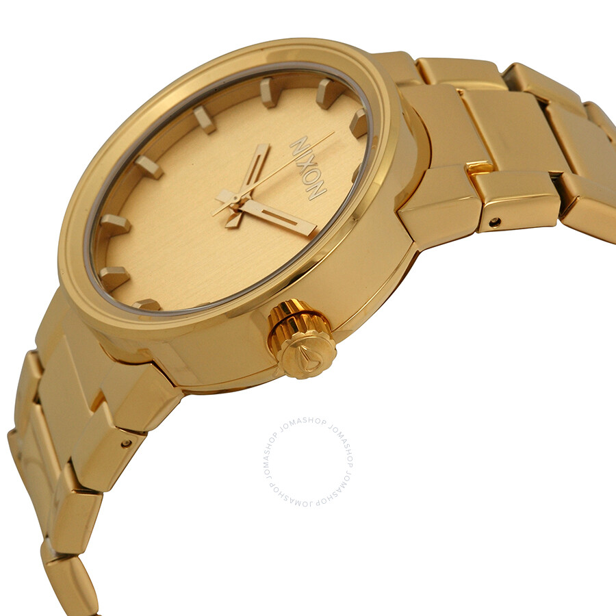 Nixon Cannon Gold: Nixon Cannon Gold Dial Gold-plated Men's Watch A1601891
