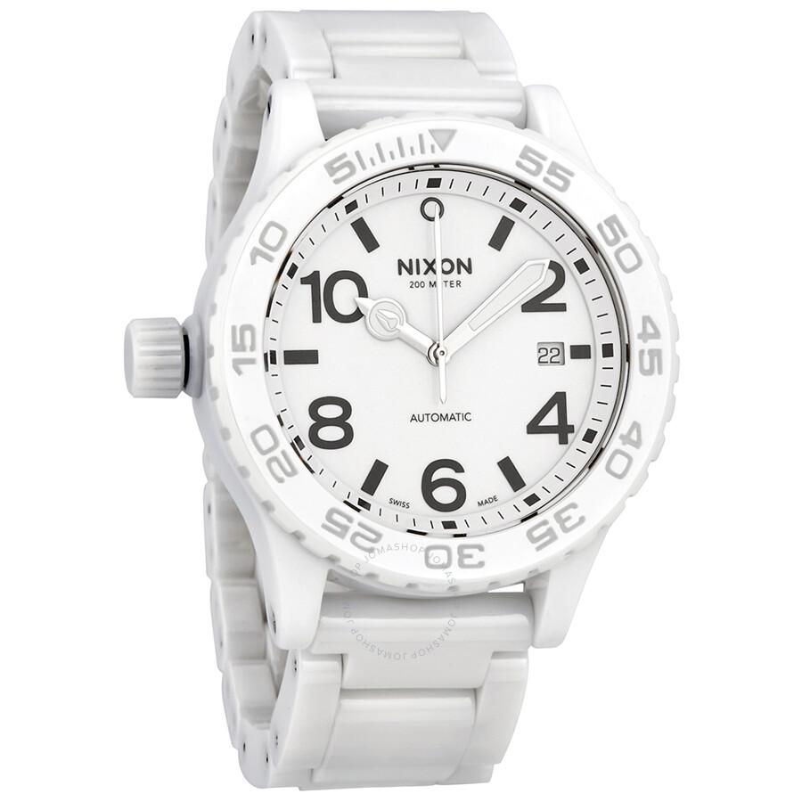 Nixon ceramic 42 20 automatic men 39 s watch a1481126 42 20 nixon watches jomashop for Ceramic man watch
