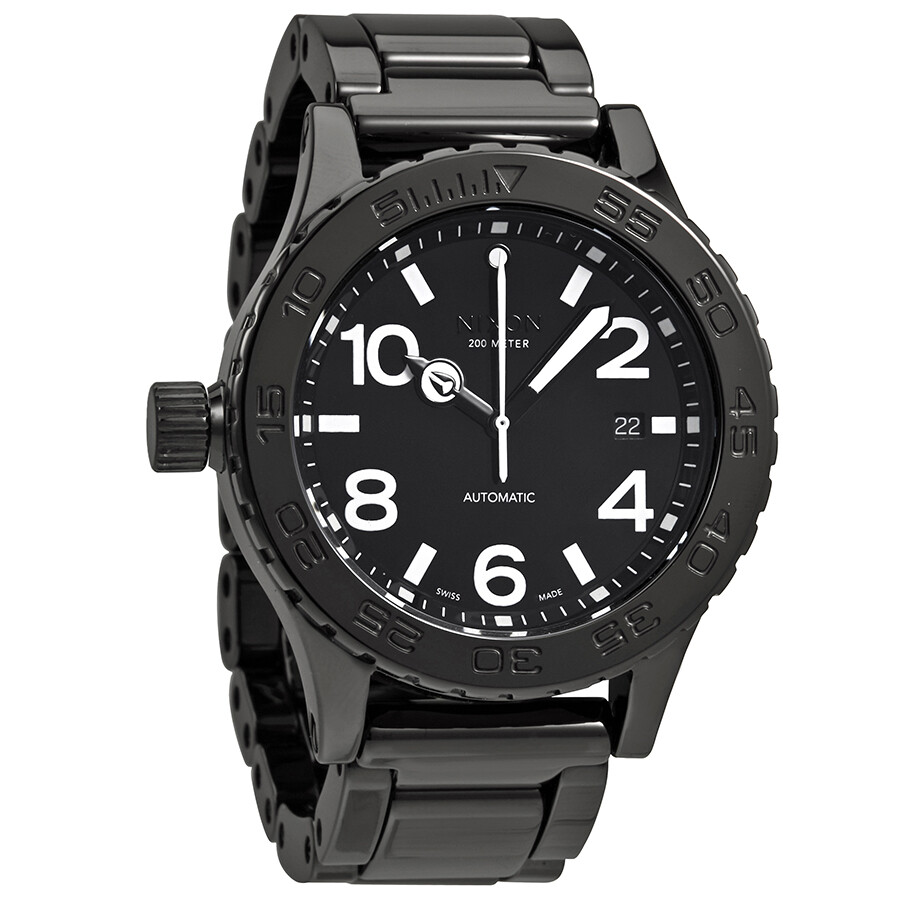 Nixon Ceramic 42 20 Black Dial Automatic Men S Watch