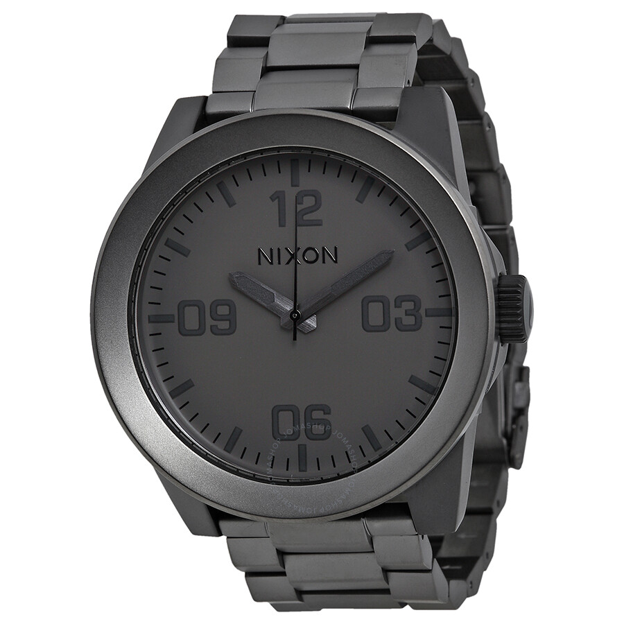 nixon corporal ss matte black ip stainless steel s