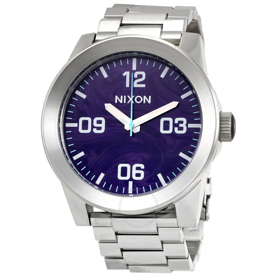 Watch Links Nixon Purple: Nixon Corporal SS Purple Dial Men's Watch A346-230-00