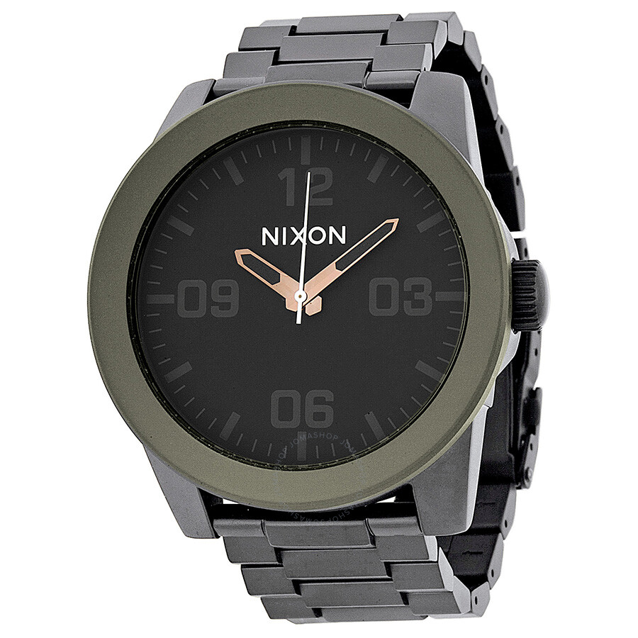 nixon corporal steel black stainless steel men s watch a3461530